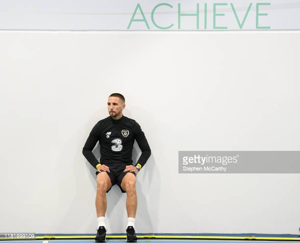 Dublin , Ireland - 11 November 2019; Conor Hourihane during a gym session prior to a Republic of Ireland training session at the FAI National...
