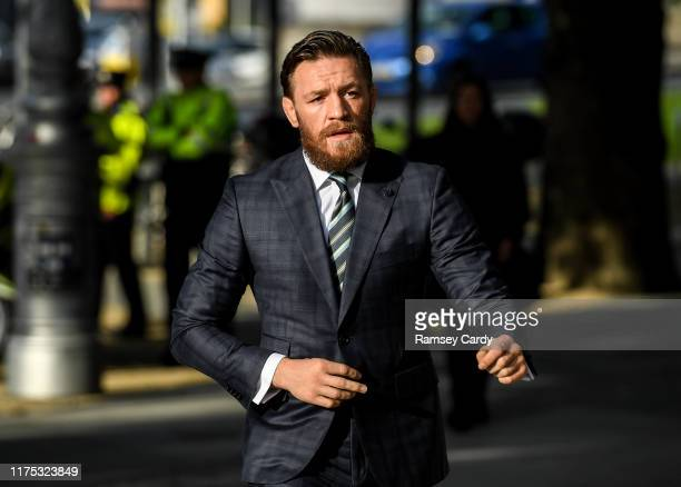 Dublin Ireland 11 October 2019 Conor McGregor arrives at The Criminal Courts of Justice in Dublin