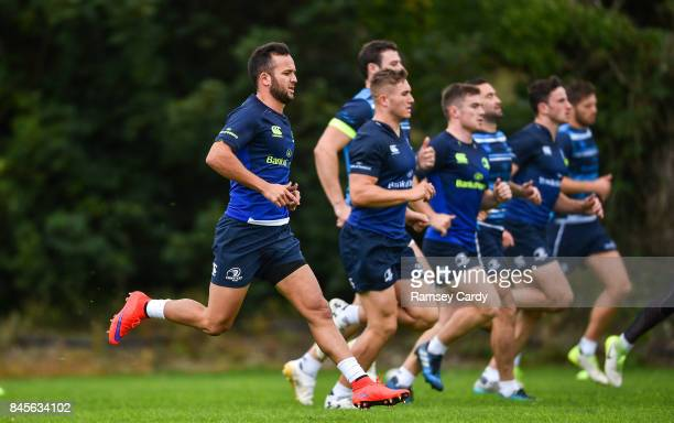 Dublin Ireland 11 September 2017 Leinster's Jamison GibsonPark during squad training at UCD in Dublin