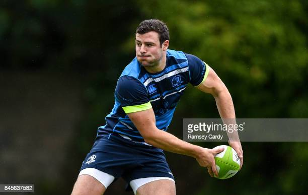 Dublin Ireland 11 September 2017 Leinster's Robbie Henshaw during squad training at UCD in Dublin