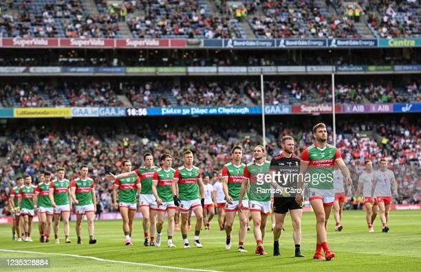 Dublin , Ireland - 11 September 2021; Aidan O'Shea of Mayo before the GAA Football All-Ireland Senior Championship Final match between Mayo and...