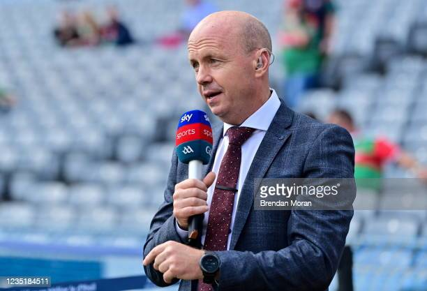 Dublin , Ireland - 11 September 2021; Father of current Tyrone player Darragh Canavan, former Tyrone captain and current Sky Sports Analyst Peter...
