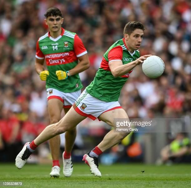 Dublin , Ireland - 11 September 2021; Lee Keegan of Mayo during the GAA Football All-Ireland Senior Championship Final match between Mayo and Tyrone...