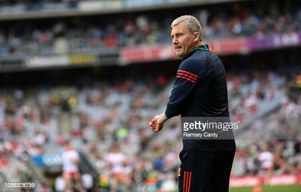 Dublin , Ireland - 11 September 2021; Mayo manager James Horan before the GAA Football All-Ireland Senior Championship Final match between Mayo and...
