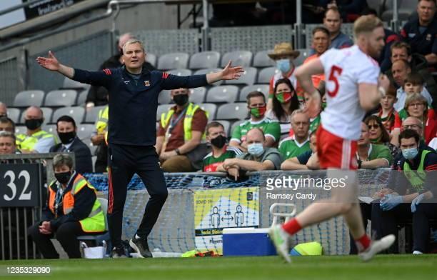 Dublin , Ireland - 11 September 2021; Mayo manager James Horan during the GAA Football All-Ireland Senior Championship Final match between Mayo and...
