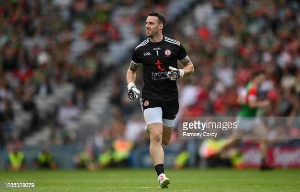 Dublin , Ireland - 11 September 2021; Tyrone goalkeeper Niall Morgan during the GAA Football All-Ireland Senior Championship Final match between Mayo...