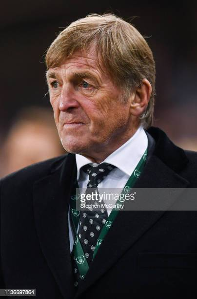 Dublin Ireland 12 April 2019 Liverpool FC Legends manager Kenny Dalglish during the Sean Cox Fundraiser match between the Republic of Ireland XI and...