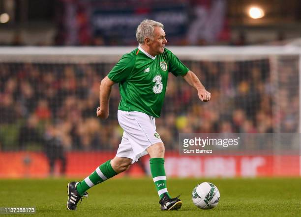 Dublin , Ireland - 12 April 2019; Ray Houghton of Republic of Ireland XI during the Sean Cox Fundraiser match between the Republic of Ireland XI and...