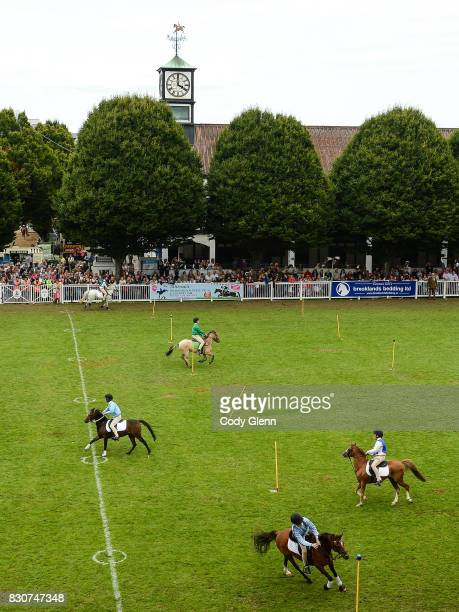 Dublin Ireland 12 August 2017 Pony Club Games during the Dublin International Horse Show at RDS Ballsbridge in Dublin