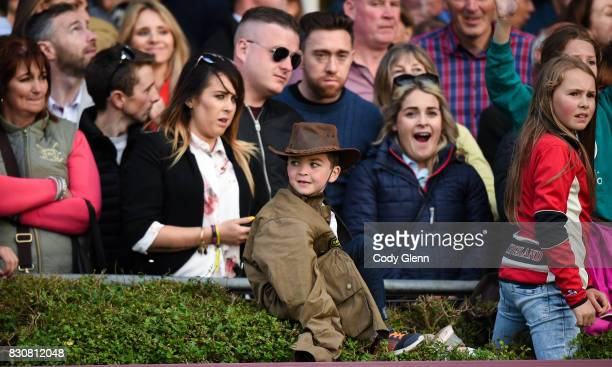 Dublin Ireland 12 August 2017 Spectators during the Land Rover Puissance at the Dublin International Horse Show at RDS Ballsbridge in Dublin