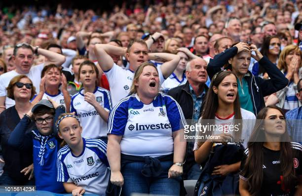 Dublin Ireland 12 August 2018 Monaghan and Tyrone fans look on in the final moments of the GAA Football AllIreland Senior Championship semifinal...