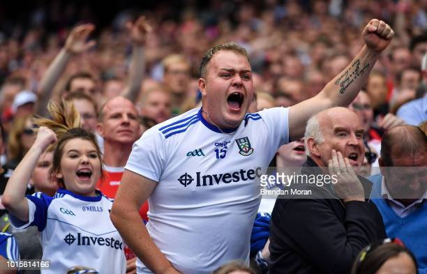 Dublin Ireland 12 August 2018 Monaghan fans look on in the final moments of the GAA Football AllIreland Senior Championship semifinal match between...