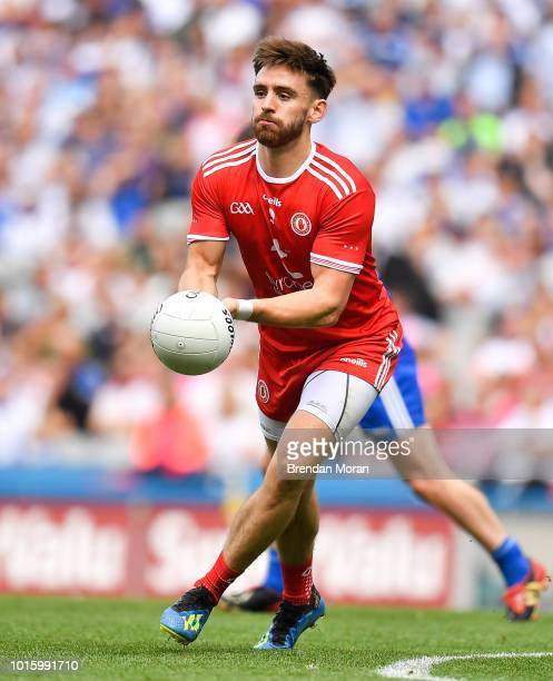 Dublin Ireland 12 August 2018 Padraig Hampsey of Tyrone during the GAA Football AllIreland Senior Championship semifinal match between Monaghan and...