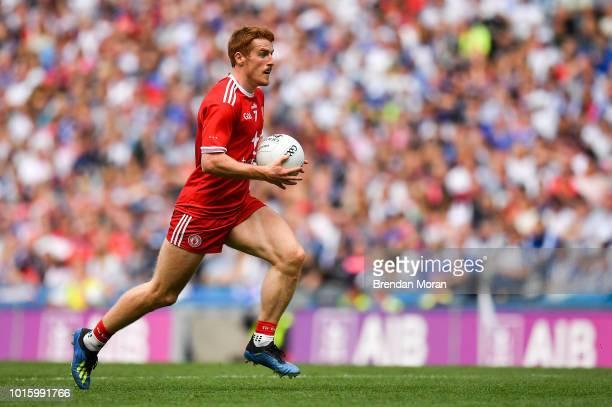 Dublin Ireland 12 August 2018 Peter Harte of Tyrone during the GAA Football AllIreland Senior Championship semifinal match between Monaghan and...