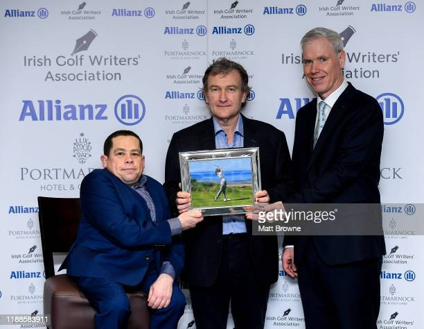Dublin Ireland 12 December 2019 Danny Wilson collects the award for his daughter Annabel Wilson who was presented with the award for Womens Amateur...