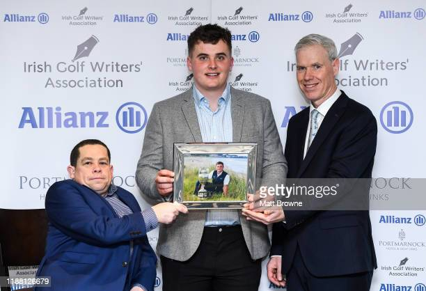 Dublin Ireland 12 December 2019 James Sugrue is Presented with the Mens Amateur of the Year Award for 2019 by Paul Kelly Chairman of the Irish Golf...