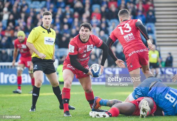 Dublin , Ireland - 12 January 2020; Sam Hidalgo-Clyne of Lyon during the Heineken Champions Cup Pool 1 Round 5 match between Leinster and Lyon at the...