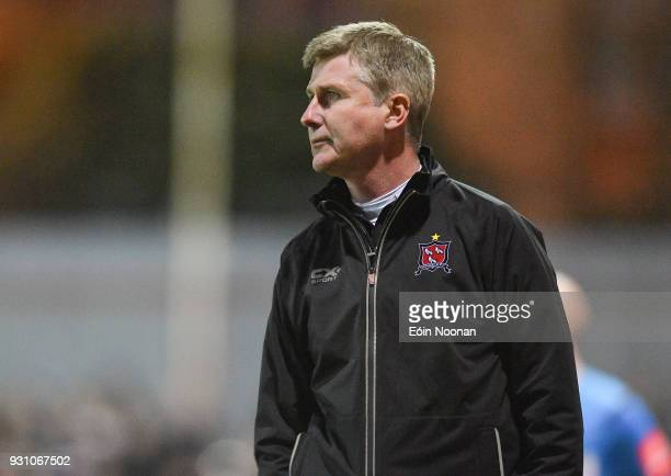 Dublin , Ireland - 12 March 2018; Dundalk manager Stephen Kenny during the SSE Airtricity League Premier Division match between St Patrick's Athletic...
