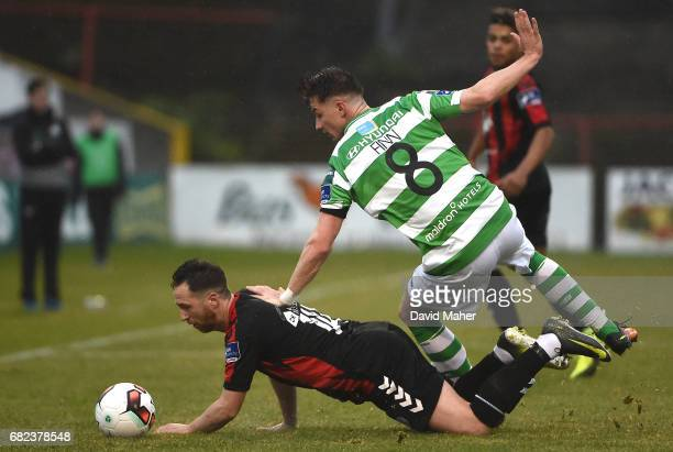 Dublin IReland 12 May 2017 Ronan Finn of Shamrock Rovers in action against Patrick Kavanagh of Bohemians during the SSE Airtricity League Premier...