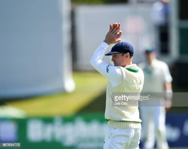Dublin Ireland 12 May 2018 Ireland captain William Porterfield during day two of the International Cricket Test match between Ireland and Pakistan at...