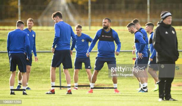 Dublin Ireland 12 November 2018 Kyle Vassell during a Northern Ireland Training Session at Gannon Park in Malahide Dublin