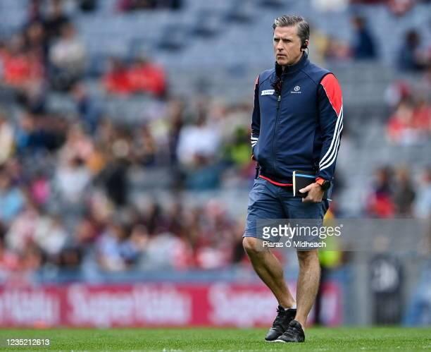 Dublin , Ireland - 12 September 2021; Cork manager Paudie Murray before the All-Ireland Senior Camogie Championship Final match between Cork and...