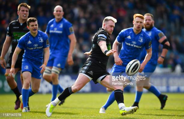 Dublin Ireland 13 April 2019 Stuart Hogg of Glasgow Warriors during the Guinness PRO14 Round 20 match between Leinster and Glasgow Warriors at the...