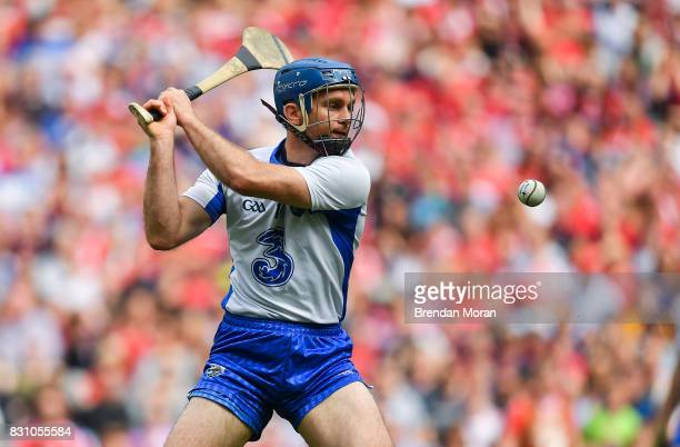 Dublin Ireland 13 August 2017 Michael Walsh of Waterford scores his side's first goal during the GAA Hurling AllIreland Senior Championship SemiFinal...