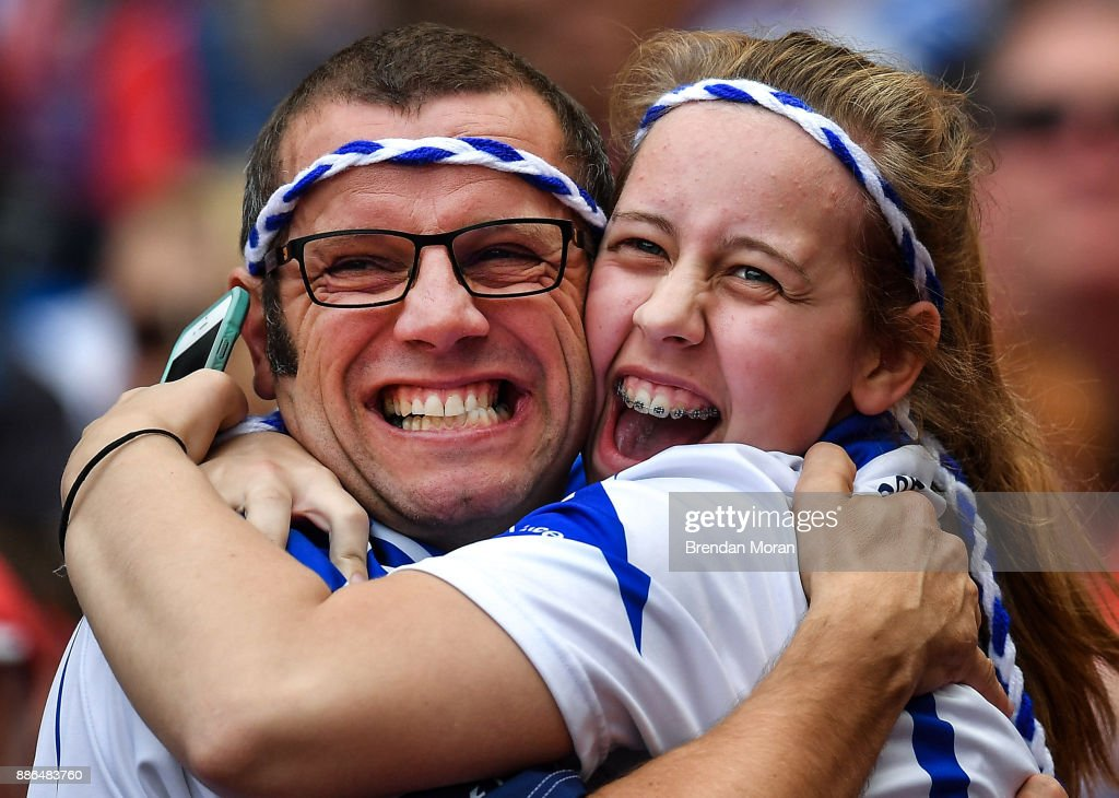 Dublin , Ireland - 13 August 2017; Waterford supporters Pat and Molly Murphy celebrate during the GAA Hurling All-Ireland Senior Championship Semi-Final match between Cork and Waterford at Croke Park in Dublin.