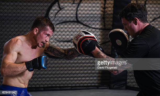 Dublin , Ireland - 13 December 2016; Brian Moore of Ireland during an Open Workout Session ahead of Bellator 169 & BAMMA 27 at the SBG Gym in Dublin.