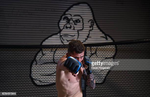 Dublin Ireland 13 December 2016 Brian Moore of Ireland during an Open Workout Session ahead of Bellator 169 BAMMA 27 at the SBG Gym in Dublin