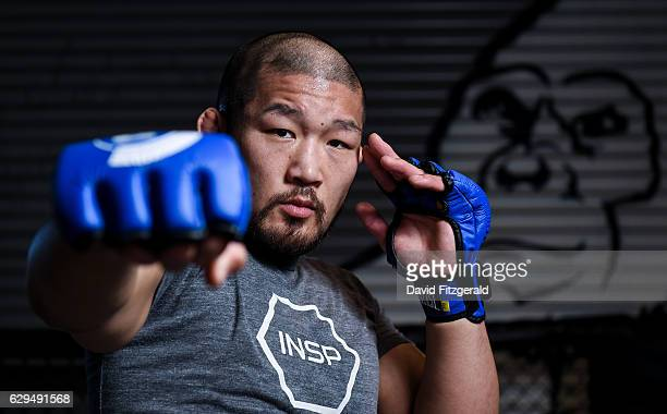 Dublin Ireland 13 December 2016 Satoshi Ishii of Japan during an Open Workout Session ahead of Bellator 169 BAMMA 27 at the SBG Gym in Dublin