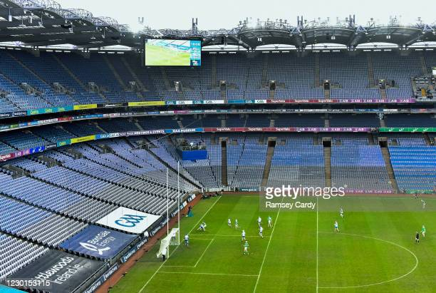 Dublin , Ireland - 13 December 2020; A general view of action during the GAA Hurling All-Ireland Senior Championship Final match between Limerick and...