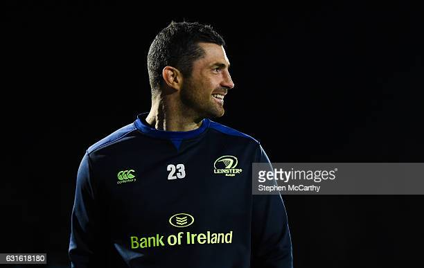 Dublin Ireland 13 January 2017 Rob Kearney of Leinster prior to the European Rugby Champions Cup Pool 4 Round 5 match between Leinster and...