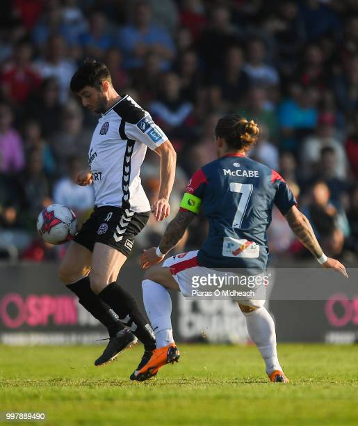 Dublin Ireland 13 July 2018 Kevin Devaney of Bohemians in action against Rhys McCabe of Sligo Rovers during the SSE Airtricity League Premier...
