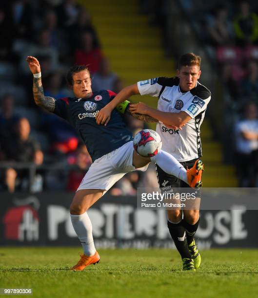 Dublin Ireland 13 July 2018 Rhys McCabe of Sligo Rovers in action against Oscar Brennan of Bohemians during the SSE Airtricity League Premier...