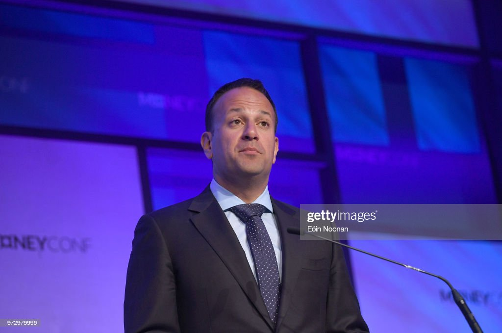 Dublin , Ireland - 13 June 2018; An Taoiseach Leo Varadkar, T.D, on Centre Stage during day two of MoneyConf 2018 at the RDS Arena in Dublin.