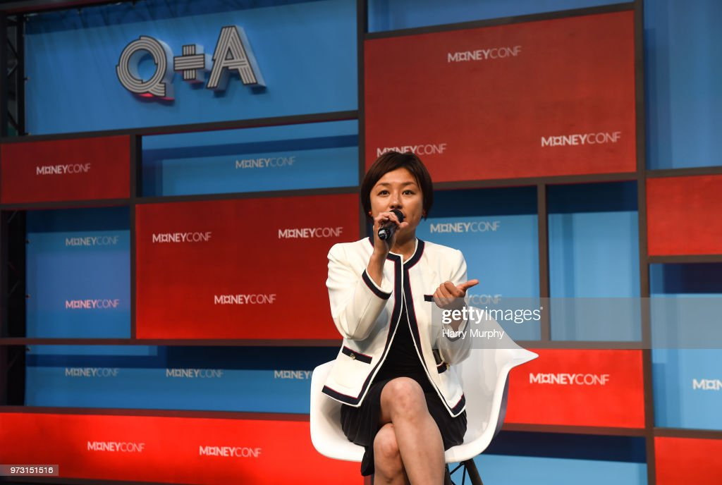 Dublin , Ireland - 13 June 2018; Edith Yeung, Head of Greater China, 500 Startups, on the Q+A Stage during day two of MoneyConf 2018 at the RDS Arena in Dublin.