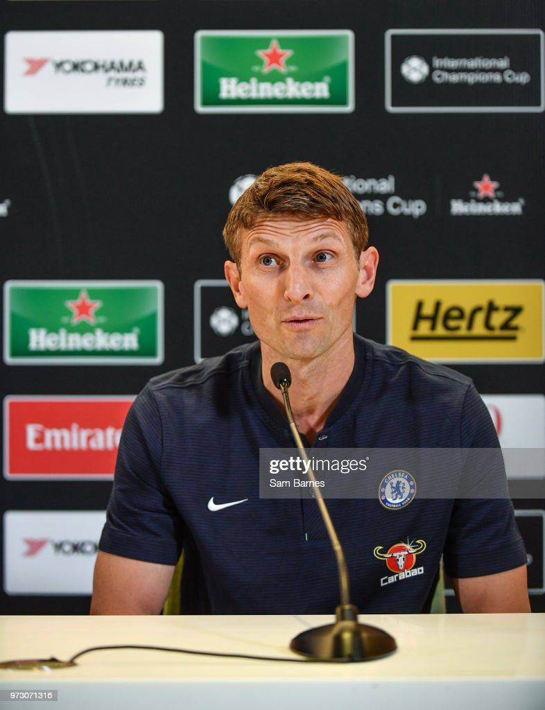 Dublin , Ireland - 13 June 2018; Former Chelsea player Tore André Flo in attendance during an International Club Game Announcement which will see Arsenal play Chelsea on the 1st of August 2018 at Aviva Stadium, in Dublin.