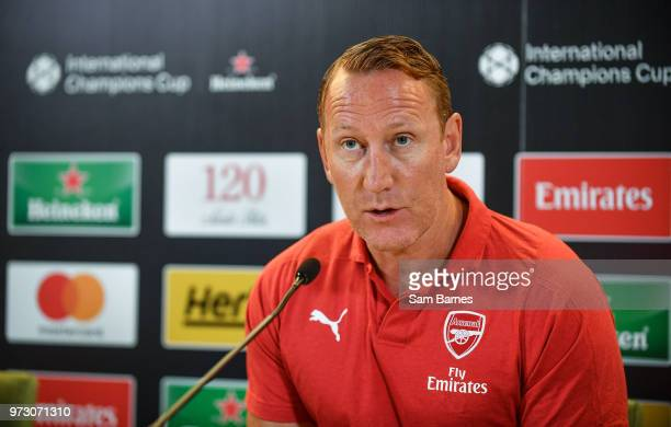 Dublin , Ireland - 13 June 2018; Former Ray Parlour in attendance during an International Club Game Announcement which will see Arsenal play Chelsea...