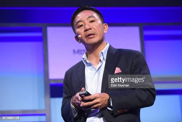 Dublin Ireland 13 June 2018 Kenneth Lin Founder CEO Credit Karma on Centre Stage during day two of MoneyConf 2018 at the RDS Arena in Dublin