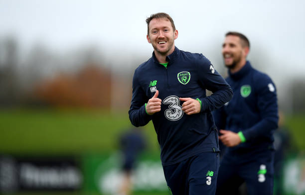 Dublin , Ireland - 13 November 2017; Aiden McGeady during Republic of Ireland squad training at the FAI National Training Centre in Abbotstown,...