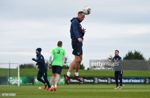 Dublin Ireland 13 November 2017 David Meyler during Republic of Ireland squad training at the FAI National Training Centre in Abbotstown Dublin