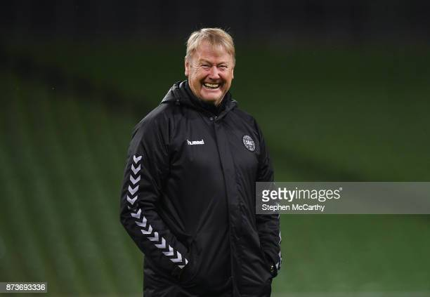Dublin Ireland 13 November 2017 Denmark manager Aage Hareide during squad training at Aviva Stadium in Dublin