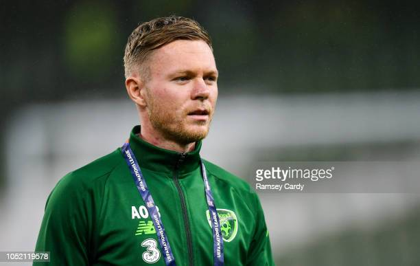 Dublin Ireland 13 October 2018 Aiden O'Brien of Republic of Ireland ahead of the UEFA Nations League B group four match between Republic of Ireland...