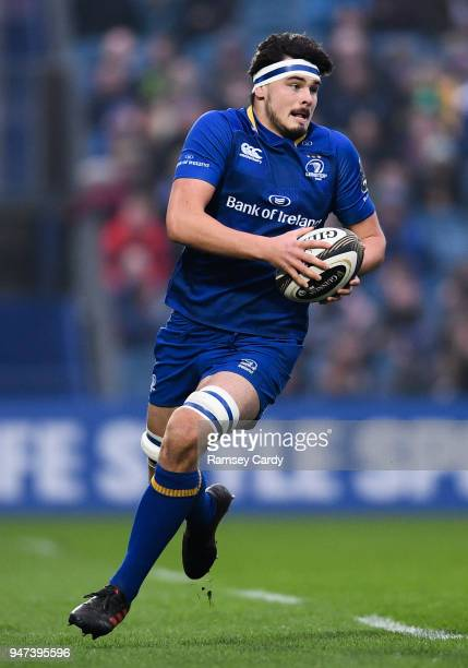 Dublin Ireland 14 April 2018 Max Deegan of Leinster during the Guinness PRO14 Round 20 match between Leinster and Benetton Rugby at the RDS Arena in...