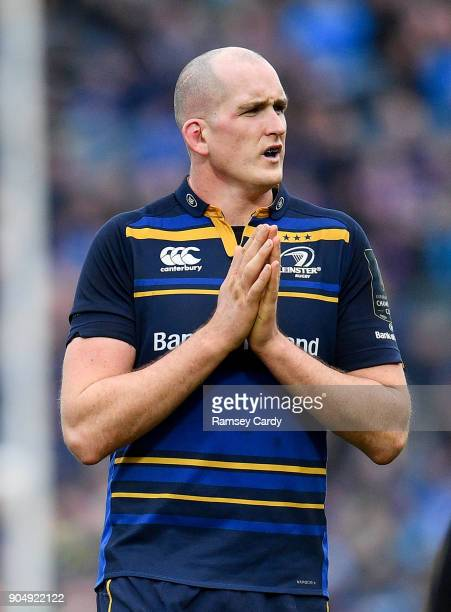 Dublin Ireland 14 January 2018 Devin Toner of Leinster during the European Rugby Champions Cup Pool 3 Round 5 match between Leinster and Glasgow...