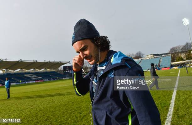 Dublin Ireland 14 January 2018 James Lowe of Leinster ahead of the European Rugby Champions Cup Pool 3 Round 5 match between Leinster and Glasgow...