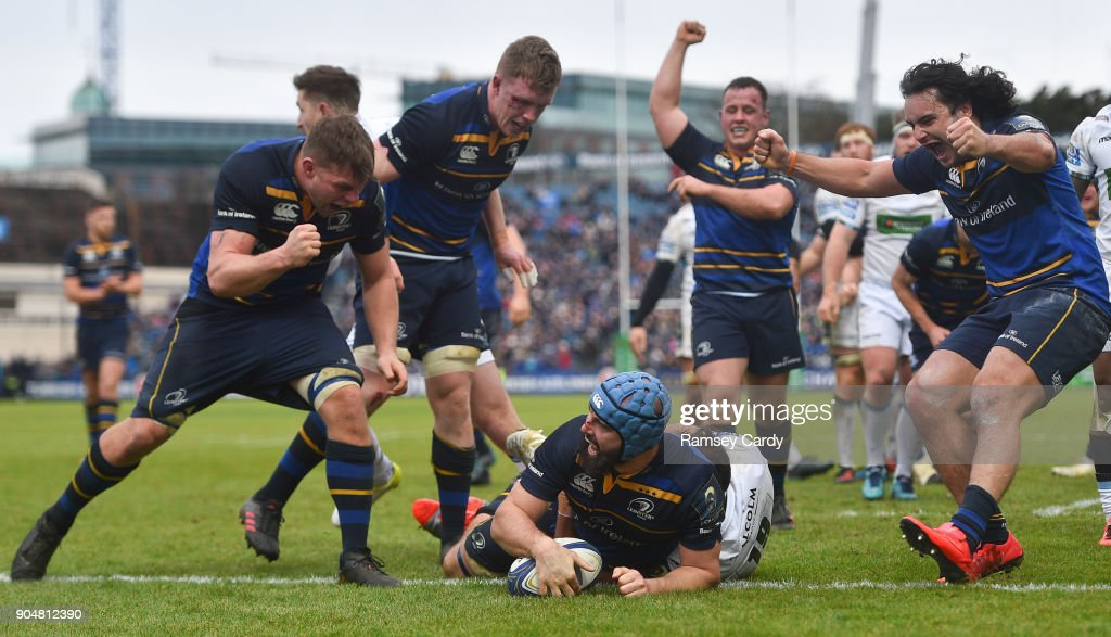 Leinster v Glasgow Warriors - European Rugby Champions Cup Pool 3 Round 5 : News Photo