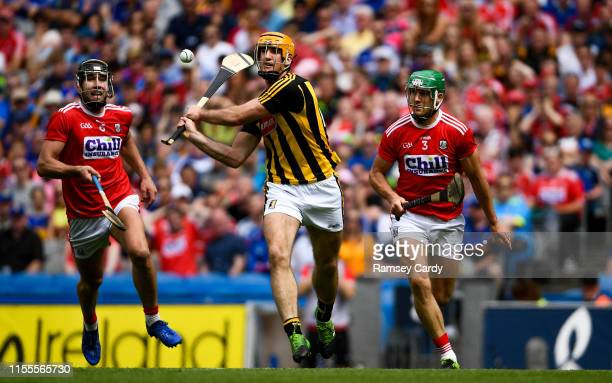 Dublin Ireland 14 July 2019 Colin Fennelly of Kilkenny in action against Eoin Cadogan of Cork during the GAA Hurling AllIreland Senior Championship...